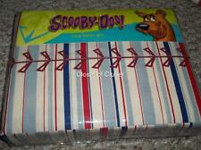 NWT Scooby Doo Baseball Twin Sheet Set {Flat Fitted Pillow Case} Stripes