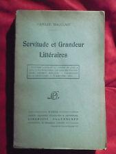 Camille Mauclair, Servitude et grandeur littéraires