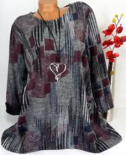 Tunika Pullover Kleid Lagenlook Longshirt A-Form Lagenlook  Longshirt  46 48 50