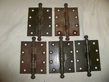 """Lot of 5 STANLEY VINTAGE 4""""X5"""" HINGES Pat  Oct. 28 1913/Mar 14 1922 Made in USA"""