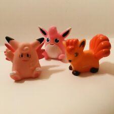 Clefable Wigglytuff & Vulpix Pokemon Nintendo Bandai 3 Figuras De Juguete De Colección Set