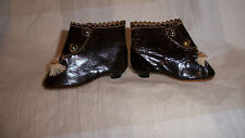 ANTIQUE  BROWN BOOTS FOR YOUR FRENCH FASHION DOLL EXCELLENT