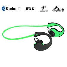 Cuffie BLUETOOTH SPORT ESTREMI Wireless Impermeabile Corsa Palestra-Verde