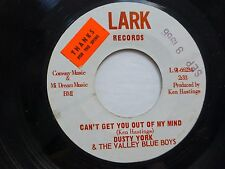 DUSTY YORK 45 I get so lonely / Can't get you out of my mind LARK country  Jr698