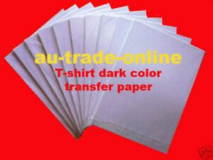 40 x A4 T-SHIRT Inkjet HEAT DARK COLOR TRANSFER PAPER FILM + Isolation PAPER