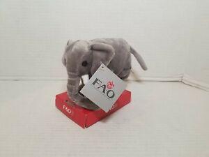 2011 FAO Shwartz Toys R Us Miniature Small Elephant Plush New