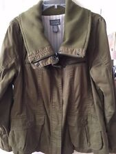 Women's jacket by Motto, size M, olive green, cotton/knit