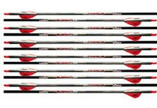 VICTORY ARCHERY V FORCE 400'S .003 CARBON ARROWS  RED/WHITE FREE FIELD TIPS