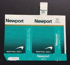 NEWPORT MENTHOL 100's Cigarette 1978 empty soft pack wrapper Lorillard brand