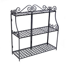 Panacea Forged Three-Tier Plant Stand, Black, 41.5-Inches Tall