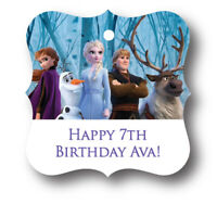 24 Frozen 2 Elsa and Anna Personalized Birthday Party Favor Gift Tag