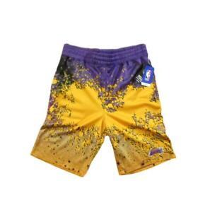 Los Angeles Lakers Paint Splatter Basketball Shorts