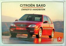 CITROEN SAXO - Original Car Owners Handbook - May 2000 - #S8-GB-1001