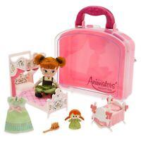 Disney Frozen Anna Mini Doll Playset & Accessories Animators Set & Carry Case