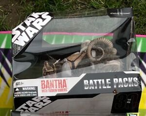 Star Wars Battle Packs Bantha with Tusken Raiders. Excellent condition