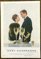 1961 Moet Champagne PRINT AD For Memorable Moments