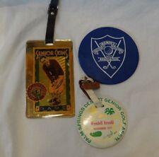 Palm Springs, Mauna Lani & Womens South CA Golf Bag Tags 70's-80's Senior Skins
