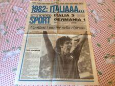 """Giornale """"Il Giorno Sport"""" Italia Campione del Mondo 1982"""