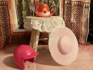 Barbie Hat Lot of 3- Vintage Good Pre-owned Condition. Fast Ship 🎁