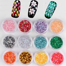 12 Boxes Nail Art Accessories Stickers Sequins 3D Glitter Paperr Manicure Set BK