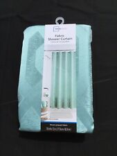 Mainstays Aquifer Woven Jacquard Fabric Shower Curtain 70x72 NEW
