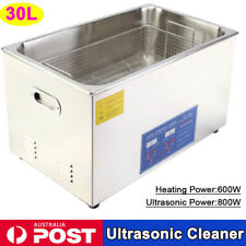 30L Digital Ultrasonic Cleaner Stainless Steel Heater Timer Industrial Grade AU