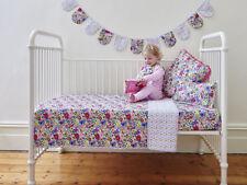 Primrose Girls Shabby Chic Floral Baby Cot Quilt Crib Nursery Bedding