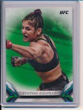 2018 Topps UFC Cynthia Calvillo Green Parallel 23/199