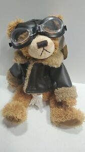 Brass Button Bears Aviator Pilot Plush Legendary Collection Stuffed Animal Ralph