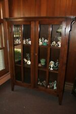 Craftsman Mission Style Oak Curio China Cabinet