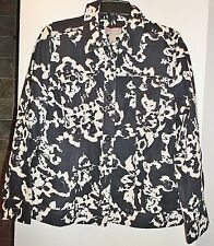 CHICO'S SCRATCHED FLORAL GOBI JACKET NWT$64 CHICOS 2 M/L