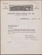 1939 Hicksville Long Island New York Letterhead Godfrey Farm Supply Agricultural