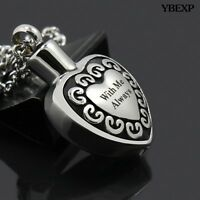 """""""With Me Always"""" Cremation Jewelry Keepsake Memorial Urn Necklace Ash Holder New"""