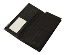 Mens Wallet Real Leather Long Purse ID Credit Card Holder Coin Pocket Gift New