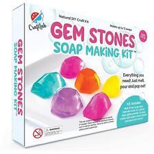 Gem Stones Soap Making Kit, Great DIY Craft Project, Gift & STEM Science...