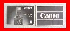 Canon Speedlite Flash Model 177A 177 A Camera Flash Owners Booklet Manual Book