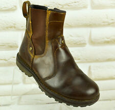 TIMBERLAND Brown Leather Ankle Boots Outdoor Boys Kids Shoes Size 10 UK 28 EU