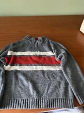 Arizona Boys Grey Pullover Sweater With Zipper Size 5 / 6
