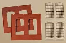 Auhagen H0 Système modulaire 80503: 2 Cloisons 2325A,rouge