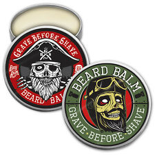 GRAVE BEFORE SHAVE BEARD BALM DUAL PACK (Bay Rum, and Original GBS Beard Balm)