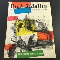 VTG High Fidelity Music Magazine March 1955 - Modern Jazz Quartet by Nat Hentoff