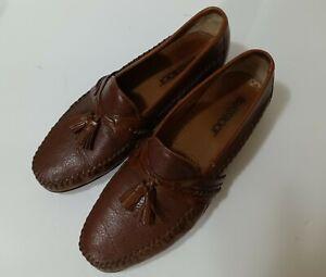 Brass Boot Brown Handmade Soft Leather Tassel Loafer