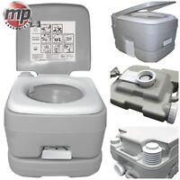 Leisurewize 10L Camping Travel Portable Lightweight Flushing Toilet Loo - GREY