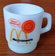 Vintage McDonalds Anchor Hocking Fire-King Good Morning Glass Coffee Mug Cup