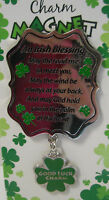 IRELAND GOOD LUCK CHARM MAGNET AN IRISH BLESSING MAY THE ROAD RISE TO MEET YOU