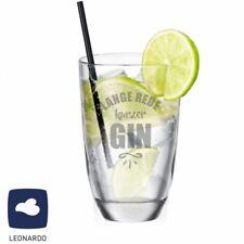 GIN Glas mit Spruch Lange Rede kurzer GIN LEONARDO Ginglas Geschenk Gin Tonic