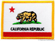 CALIFORNIA BIKER PATCH iron-on EMBROIDERED IRON-ON STATE FLAG