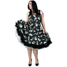 Rockabilly Cotton Blend Halter Sleeve Dresses for Women