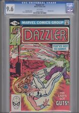 Dazzler 7 CGC 9.6 W Incredible Hulk Cover 1981: 2 part legendary story!
