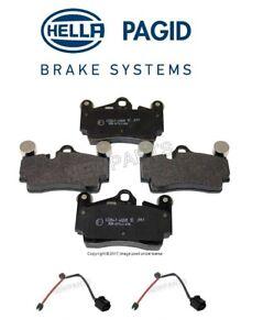 For Audi Q7 VW Touareg Rear Disc Brake Pad Set Hella Pagid w/ Rear Wear Sensors